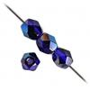 Fire Polished 4mm Cobalt Blue Azuro